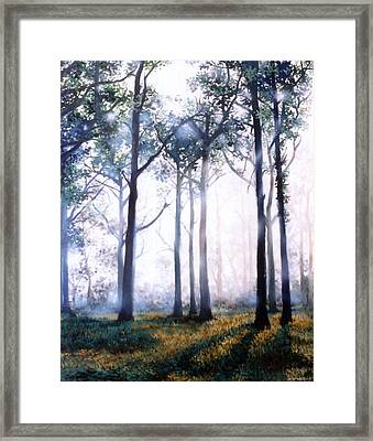 Framed Print featuring the painting Good Morning by Chonkhet Phanwichien