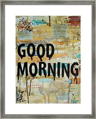 Good Morning Coffee Collage 9x12 Framed Print