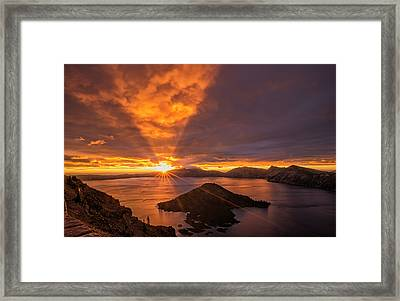 Good Morning Crater Lake Framed Print by Loree Johnson