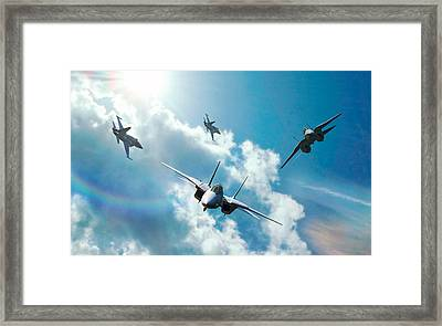Good Morning Gentlemen Framed Print