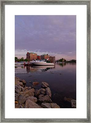 Framed Print featuring the photograph Good Morning Harbor by Joel Witmeyer