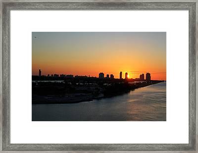 Good Morning Miami Framed Print by Shelley Neff