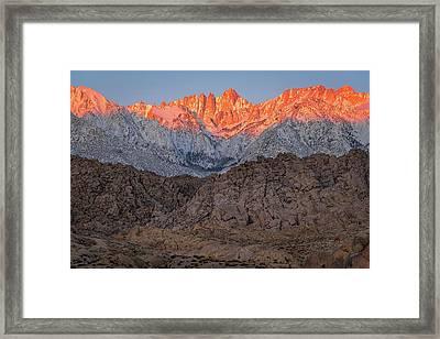 Good Morning Mount Whitney Framed Print