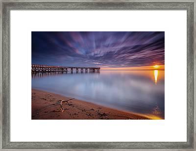 Framed Print featuring the photograph good morning Mr. Sun   by Edward Kreis