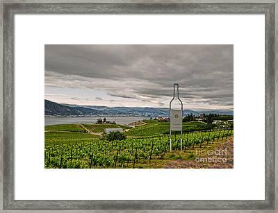 Good Morning Naramata Framed Print by Judy Grant