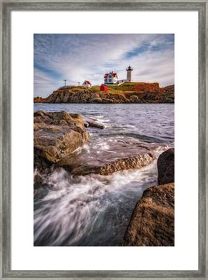 Good Morning Nubble Framed Print by Darren White