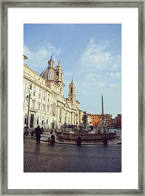 Good Morning Piazza Navona Framed Print by JAMART Photography