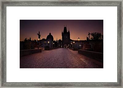 Good Morning Prague  Framed Print by Jaroslaw Blaminsky