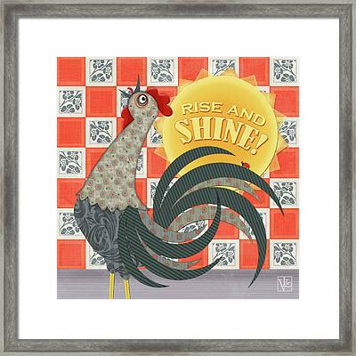 Good Morning Rooster Framed Print