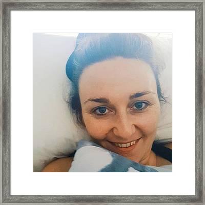 Good Morning! #selfie #nomakeup Framed Print by Natalie Anne