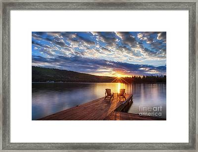 Good Morning Sun Framed Print
