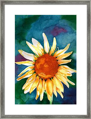 Framed Print featuring the painting Good Morning Sunflower by Sharon Mick