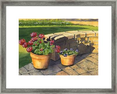 Good Morning Sunshine Framed Print by Marsha Elliott
