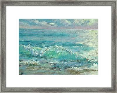 Good Morning Surf Framed Print by Barbara Hageman