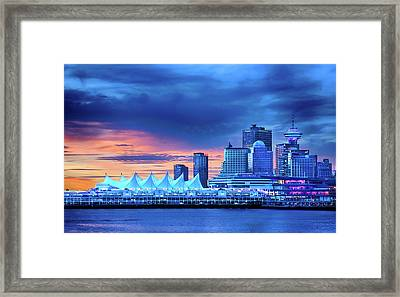 Framed Print featuring the photograph Good Morning Vancouver by John Poon