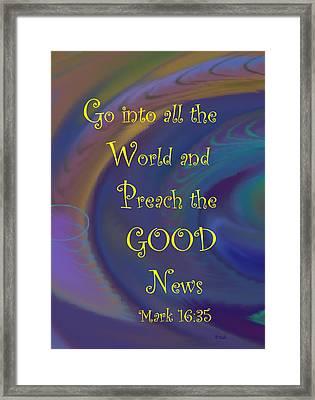 Good News Framed Print by Trish Jenkins