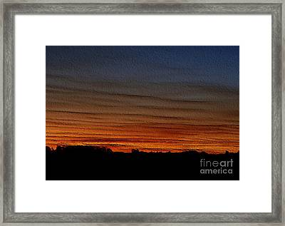 Framed Print featuring the photograph Good Night - Embossed by Erica Hanel