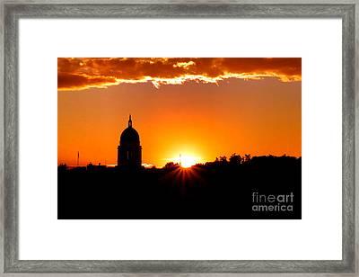Good Night Augusta Framed Print