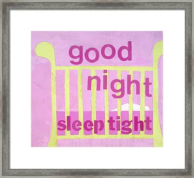 Good Night Baby Framed Print by Laurie Breen