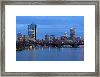 Good Night Boston Framed Print