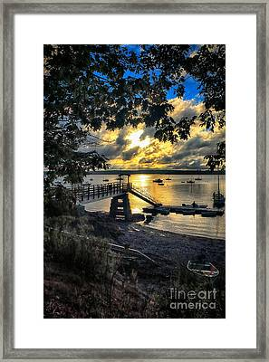 Good Night Madeleine Point Framed Print
