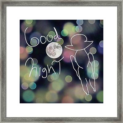 Good Night Framed Print