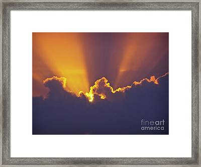 Framed Print featuring the photograph Good Night Sunshine by Terri Waters