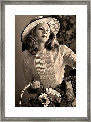 Good Old Fashion Girl Framed Print