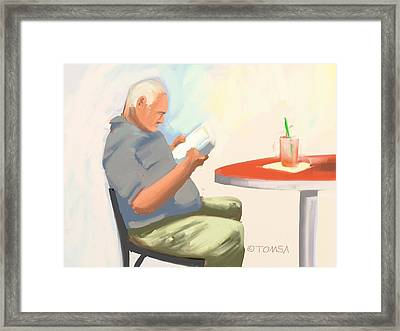 Good Read And A Drink Framed Print