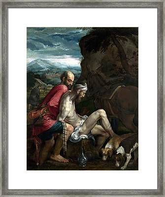 Good Samaritan Framed Print by Jacopo Bassano