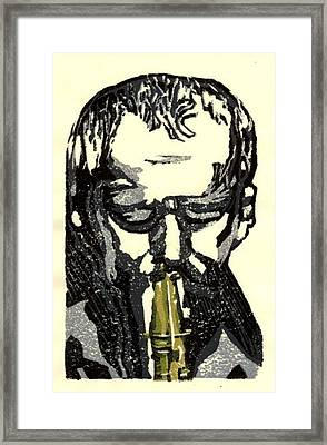 Good Sax Framed Print by John Brisson