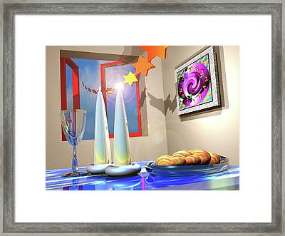 Good Shabbos Framed Print