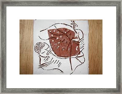 Good Shepherd - Tile Framed Print by Gloria Ssali
