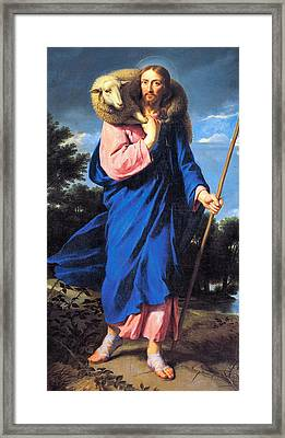 Good Shepherd Framed Print by Philippe de Champaigne