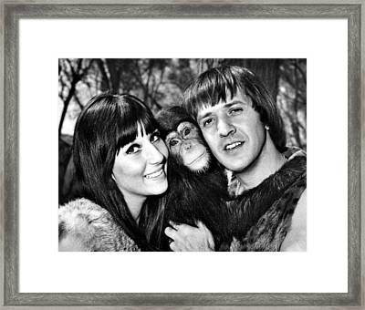 Good Times, Cher, Sonny Bono, On Set Framed Print