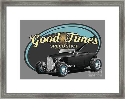 Good Times Ford Framed Print by Paul Kuras