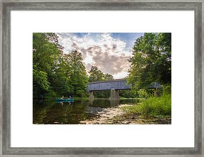 Good To Canoe Framed Print by Kristopher Schoenleber