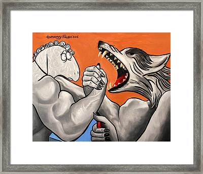 Good Verse Evil Framed Print by Anthony Falbo