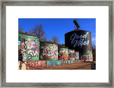 Good Vibes Asheville North Carolina Framed Print
