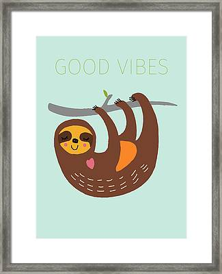 Good Vibes Framed Print by Nicole Wilson