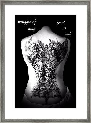 Good Vs Evil Framed Print