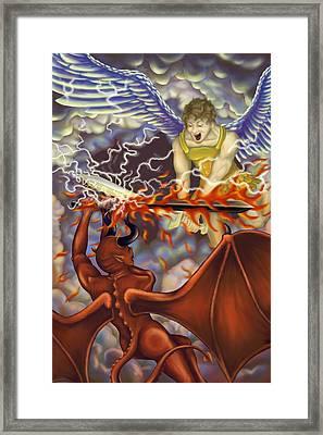 Good Vs Evil Framed Print by Tom Wrenn