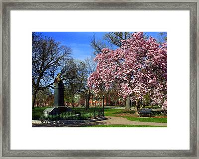 Goodale Park In The Spring Framed Print