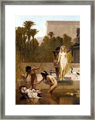 Goodall Frederik The Finding Of Moses Framed Print by Frederick Goodall