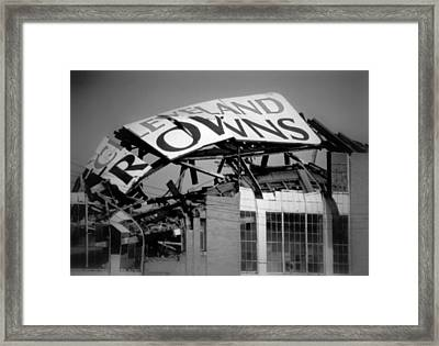 Goodbye Cleveland Stadium Framed Print by Kenneth Krolikowski