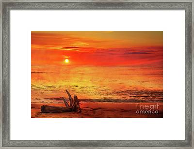 Framed Print featuring the digital art Goodbye Day by Randy Steele