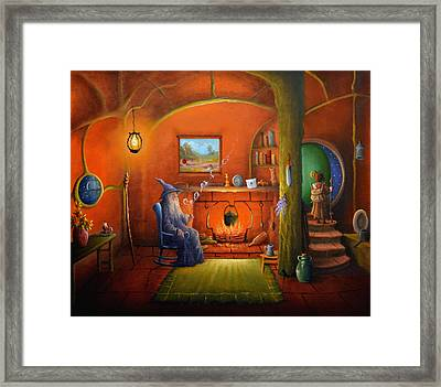 Goodbye Gandalf Framed Print by Joe  Gilronan