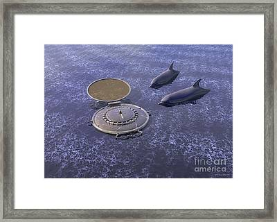 Goodbye Humankind - Surrealism Framed Print by Sipo Liimatainen