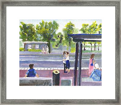 Goodbye Kiss In Gothenburg Sweden Framed Print