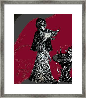 Goodbye Letter Framed Print by Rae Chichilnitsky